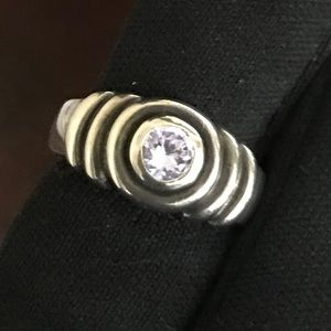 925 sterling Silver Ring with lavender stone